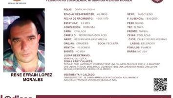 Desaparece habitante de San Nicolás en Toluca