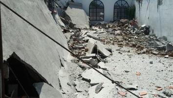 Se derrumba techo de una iglesia en San Nicolás