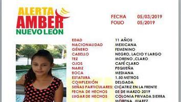 Activan Alerta Amber por desaparición de niña en Juárez