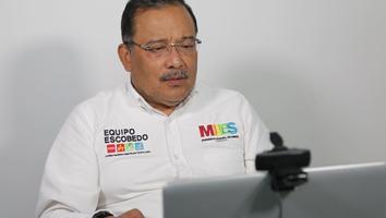 Presenta Andrés Mijes su proyecto 'Escobedo Evoluciona' ante Caintra