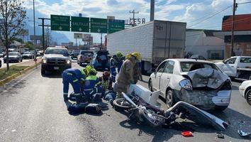 Incrementan accidentes de motocilistas en NL; conductores resbonzabilizan descuidos de losautomovilistas