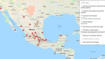 Google activa alertas de desastre y mapa de crisis por huracán 'Willa'