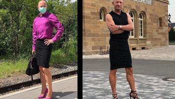 Hombre se vuelve viral al utilizar faldas para demostrar que las prendas no tienen género