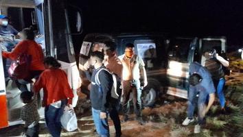 Rescatan a 35 migrantes sobre la avenida Margarita Maza de Juárez