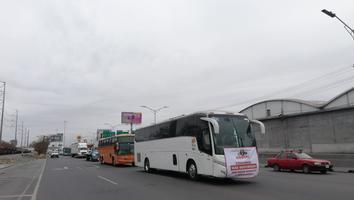 Alianza Mexicana de Organización de Transportistas realiza protesta en Área Metropolitana