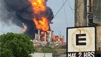 Incendio en refinería de Pemex en Veracruz deja 7 heridos