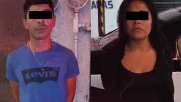 Detienen a pareja por golpear y robar a un hombre en el Centro de Monterrey