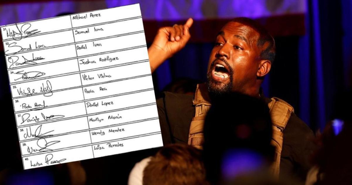 Acusan a Kanye West de falsificar firmas para su campaa presidencial