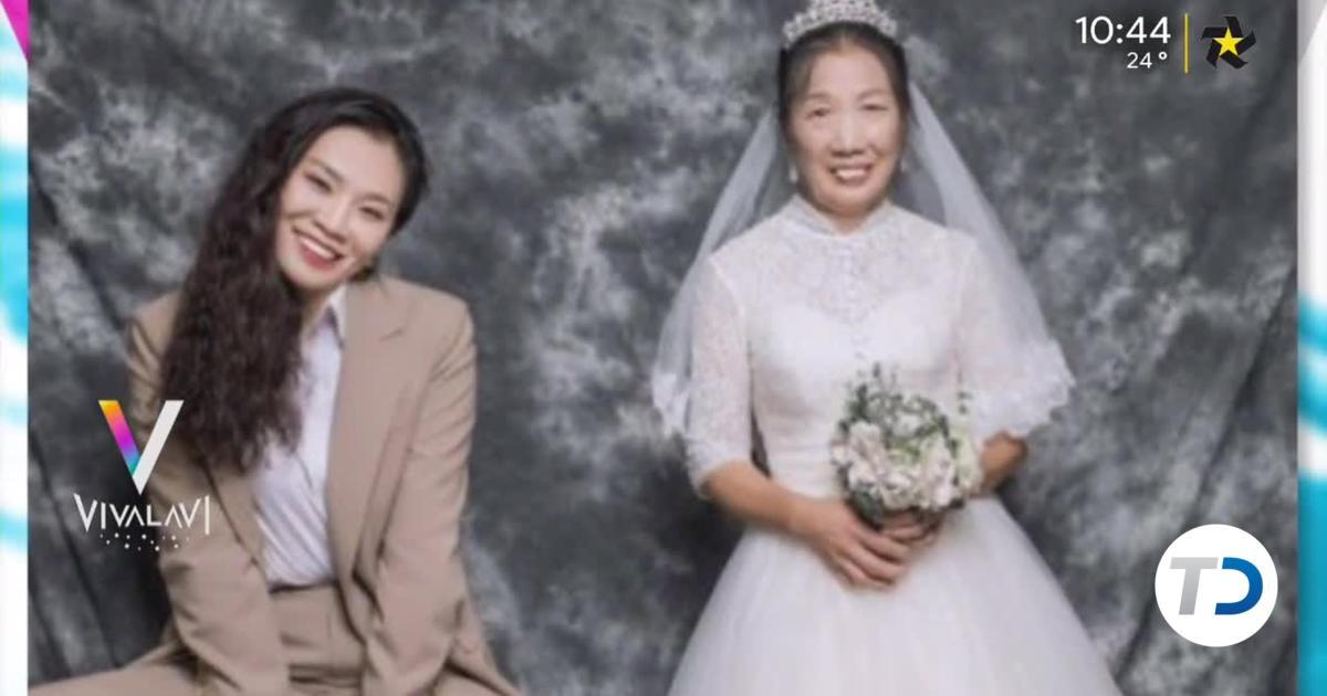 Hija se viste de novio para cumplir el sueño de su madre